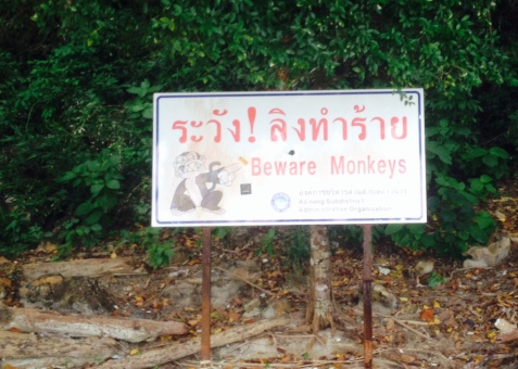 Monkey Island caution sign