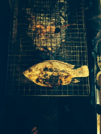 Our whole fish on the grill