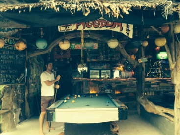 On Koh Lanta we rented our own little bungalow and the Freedom Bar was our little beachside bar with free pool