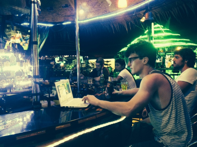 Tim got to play DJ in Patong