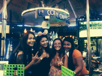 Behind the bar in Patong