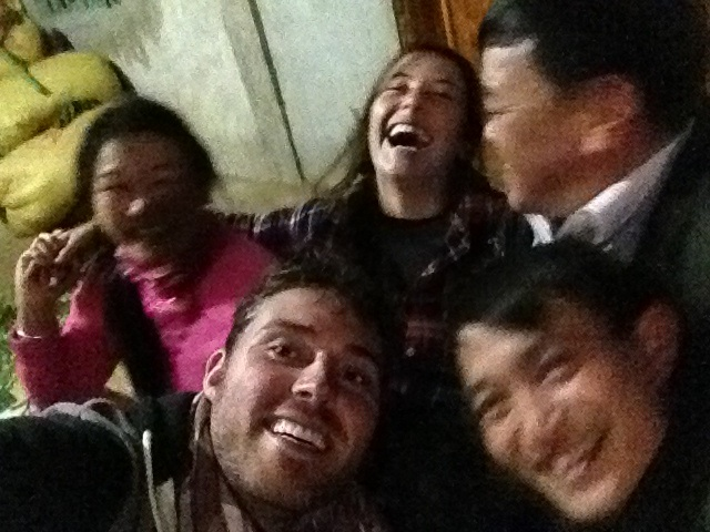 Our host family selfie!