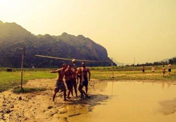 Mud volleyball!